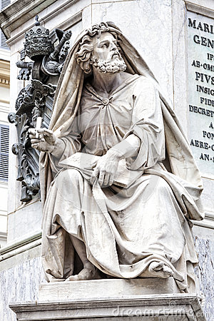 Prophet Isaiah by Revelli. Column of the Immaculate Conception, Rome. Italy