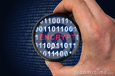Binary encrypted code with encrypt word inside