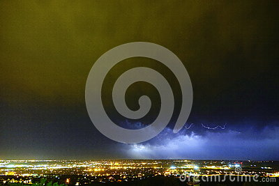 Supercell lightning, Rapid City, SD