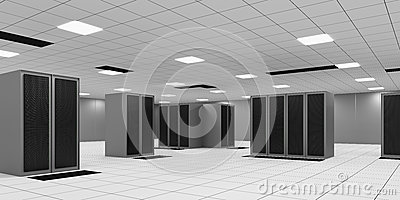 Powered Shell Data Center Room