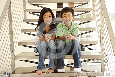 Asian brother and sister