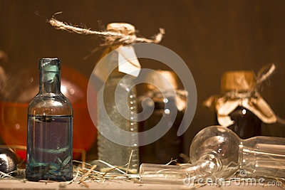 The bottle of potion