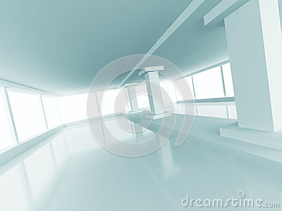 Abstract Architecture Empty Column Light Interior Background