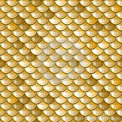 Seamless gold river fish scales