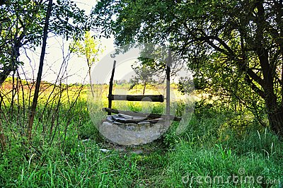 Old abandoned well