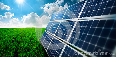 Photovoltaic ecological modules in grass