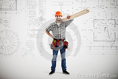 Builder in uniform