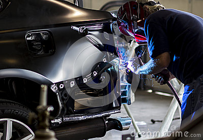Autobody Technician welding