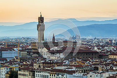 View of Palazzo Vecchio, Florence, Italy