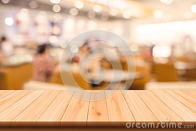 Restaurant and Coffee shop blurred background