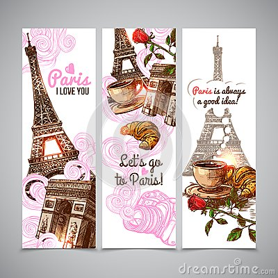 Paris Vertical Banners