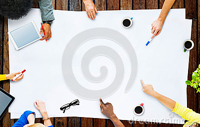 Business Team Planning Project Meeting Concept