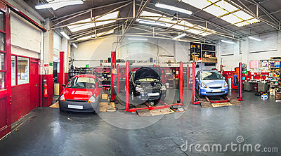 Automotive car repair shop