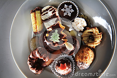 stock image of christmas desserts