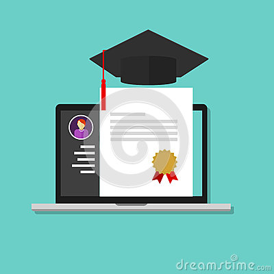 Online degree education college graduate