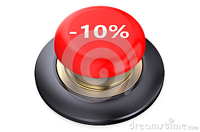 10 percent discount Red button