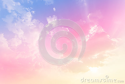 Soft cloud background