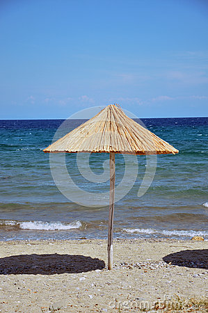 Parasol on the beach