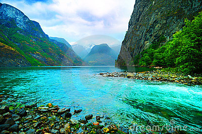 Fjord and river, Norway