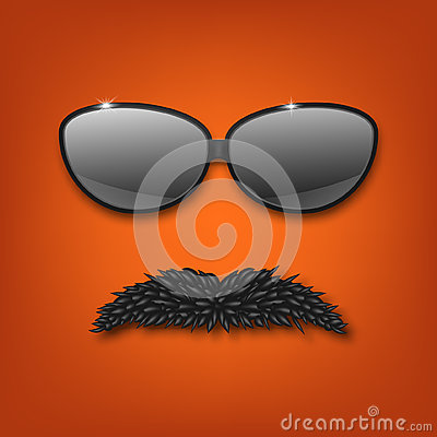 Sunglasses and mustache.vector EPS10