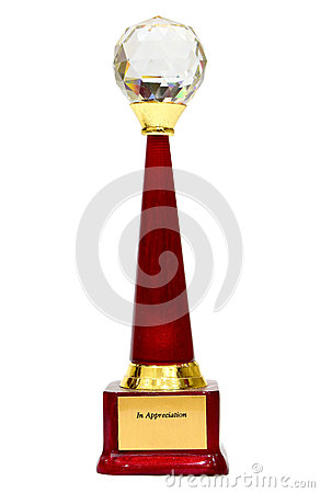 Appreciation trophy for recognition