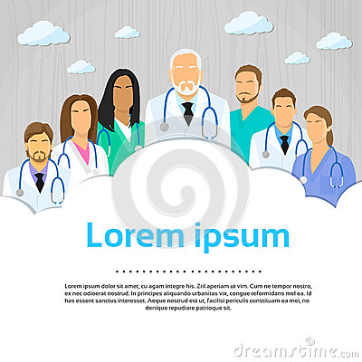 Medical Team Doctor Group Flat Profile Icon