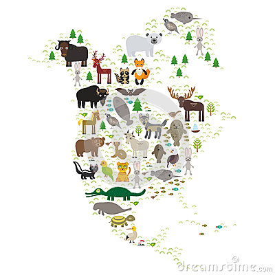 Bison bat manatee fox elk horse wolf partridge fur seal Polar bear Pit viper snake Mountain goat raccoon Eagle skunk parakeet Jagu
