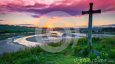 Sunset at Church Hill in Northumberland