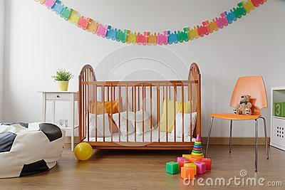 Neat furnished baby room