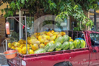 Melons in Truck