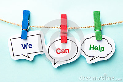 stock image of we can help