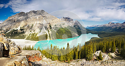 Canada, Lake, Rocky Mountains Landscape
