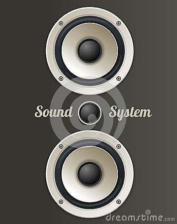 Vector Vintage Audio speaker set