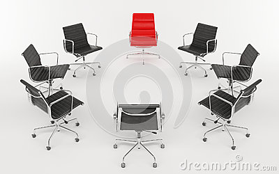 Office chairs as a circle