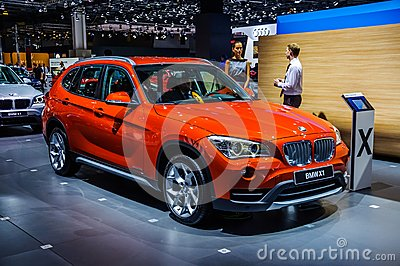 MOSCOW, RUSSIA - AUG 2012: BMW X1 E84 presented as world premiere at the 16th MIAS Moscow International Automobile Salon on August