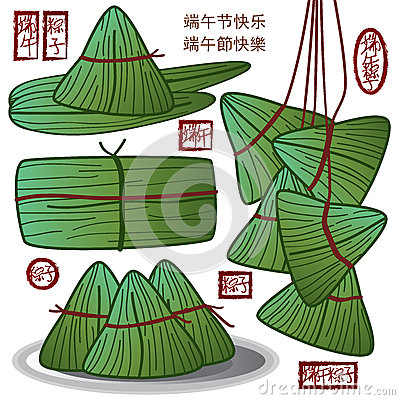 Chinese Dragon Boat Festival food green