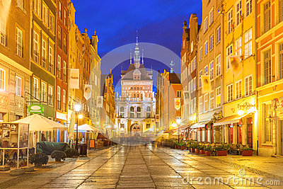 Long Lane and Golden Gate, Gdansk Old Town, Poland