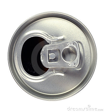 how to cut open the top of a soda can