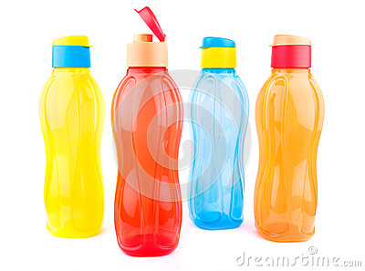 Colorful pet water bottles