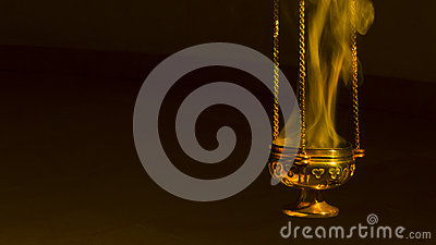 Incense in a thurible