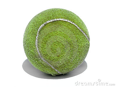 Dirty used tennis ball