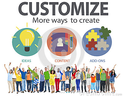 Customize Ideas Identity Individuality Innovation Personalize Co