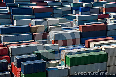 Shanghai Yangshan Deepwater Port Economic FTA container terminal stacking containers