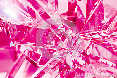 Abstract purple background of crystal refractions