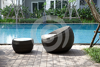 Outdoor furniture rattan chairs