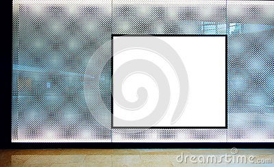 advertising blank billboard
