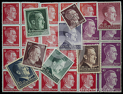 Adolf Hitler post stamps