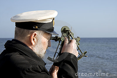 Navigator with Sextant
