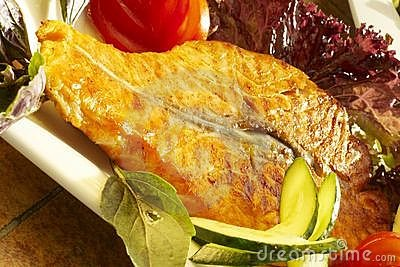 Fish-grill with vegetables