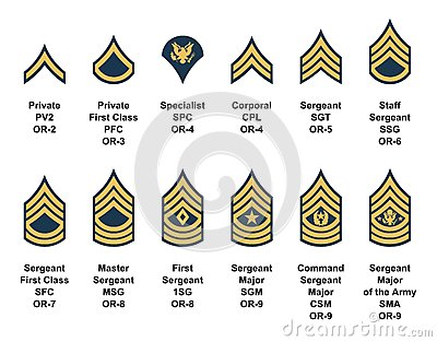 Army Enlisted Rank Insignia